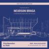 """Cartaz de lançamento do livro """"Neudson Braga e o modernismo arquitetônico em Fortaleza""""."""